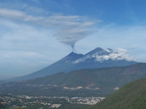 Volcano view from Antigua